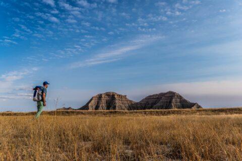 Backpacking in Badlands National Park in South Dakota