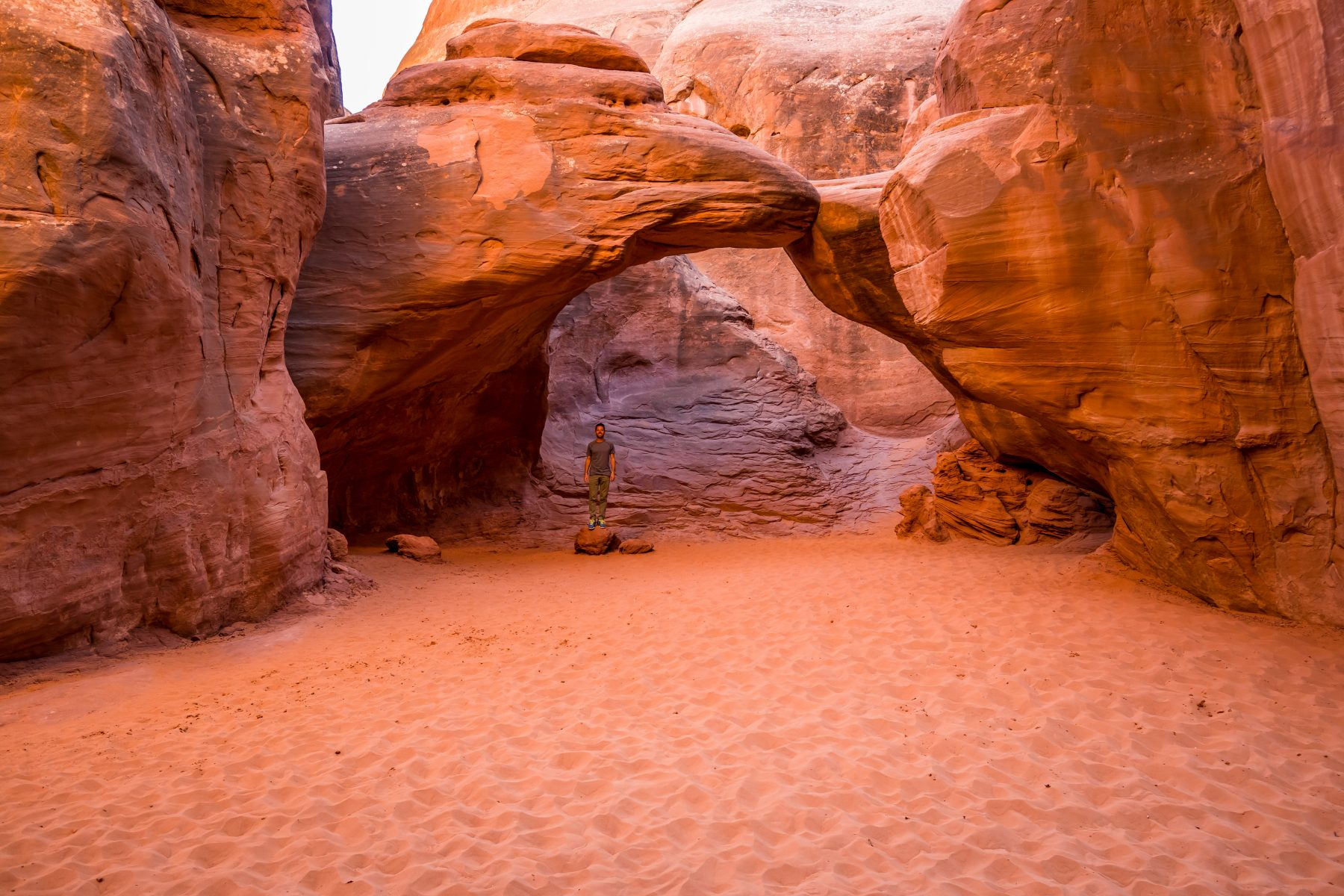 Me, at Sand Dune Arch, for scale.