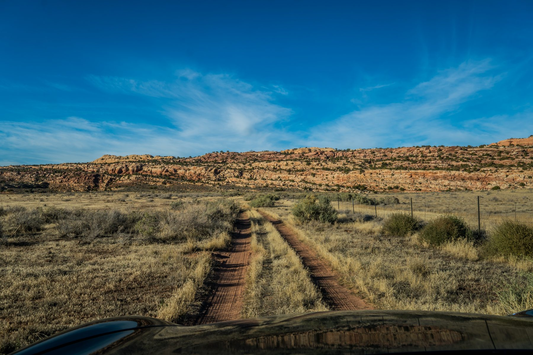 Salt Valley Road leads onto BLM land, and this path led to the most perfect campsite!