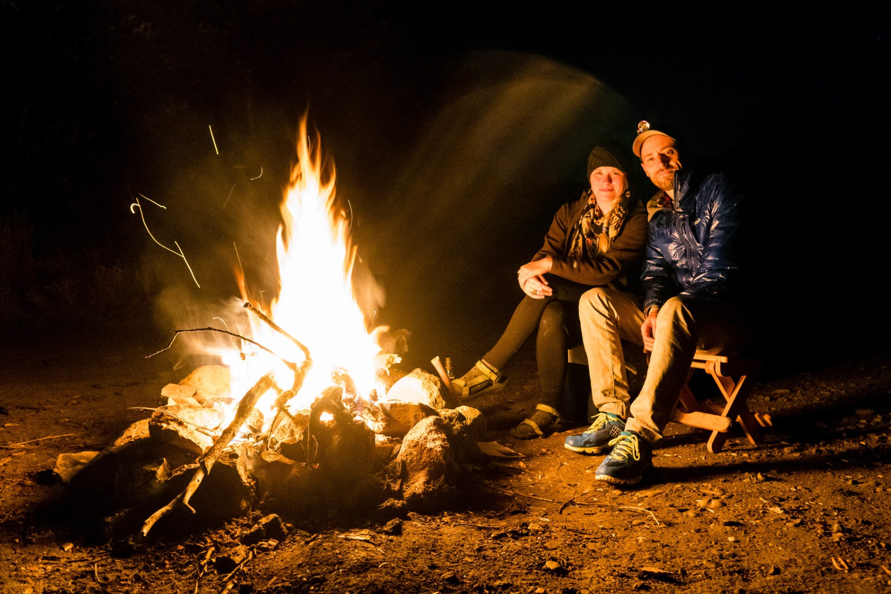 Our campfire at our campsite on Bureau of Land Management Land