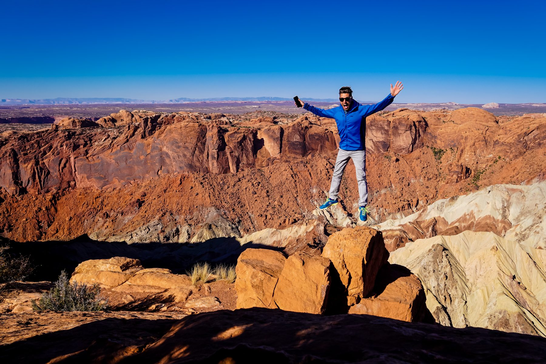 I was pretty excited to be on the rim of Upheaval Dome.