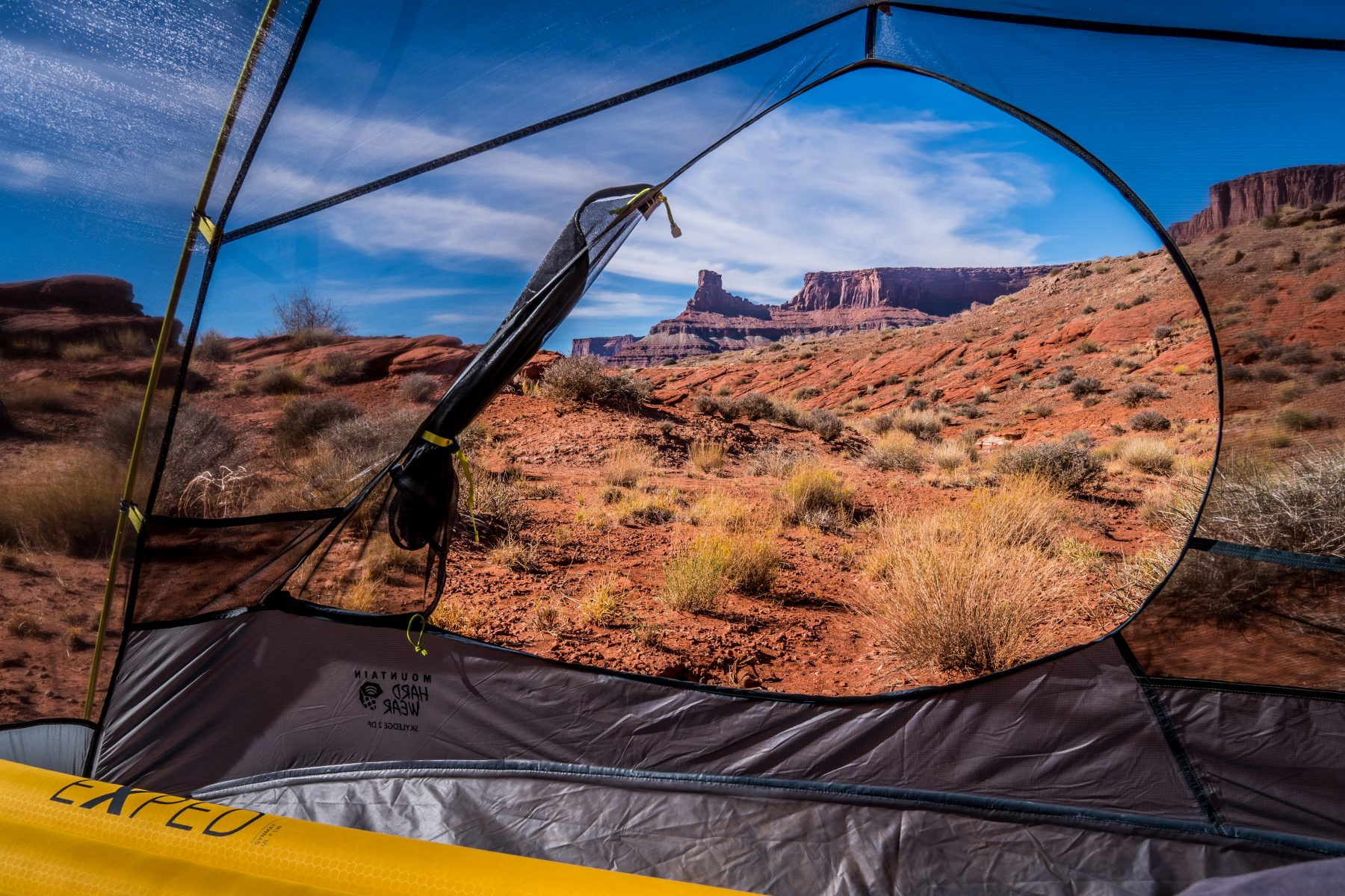 My campsite on BLM land outside Canyonlands National Park