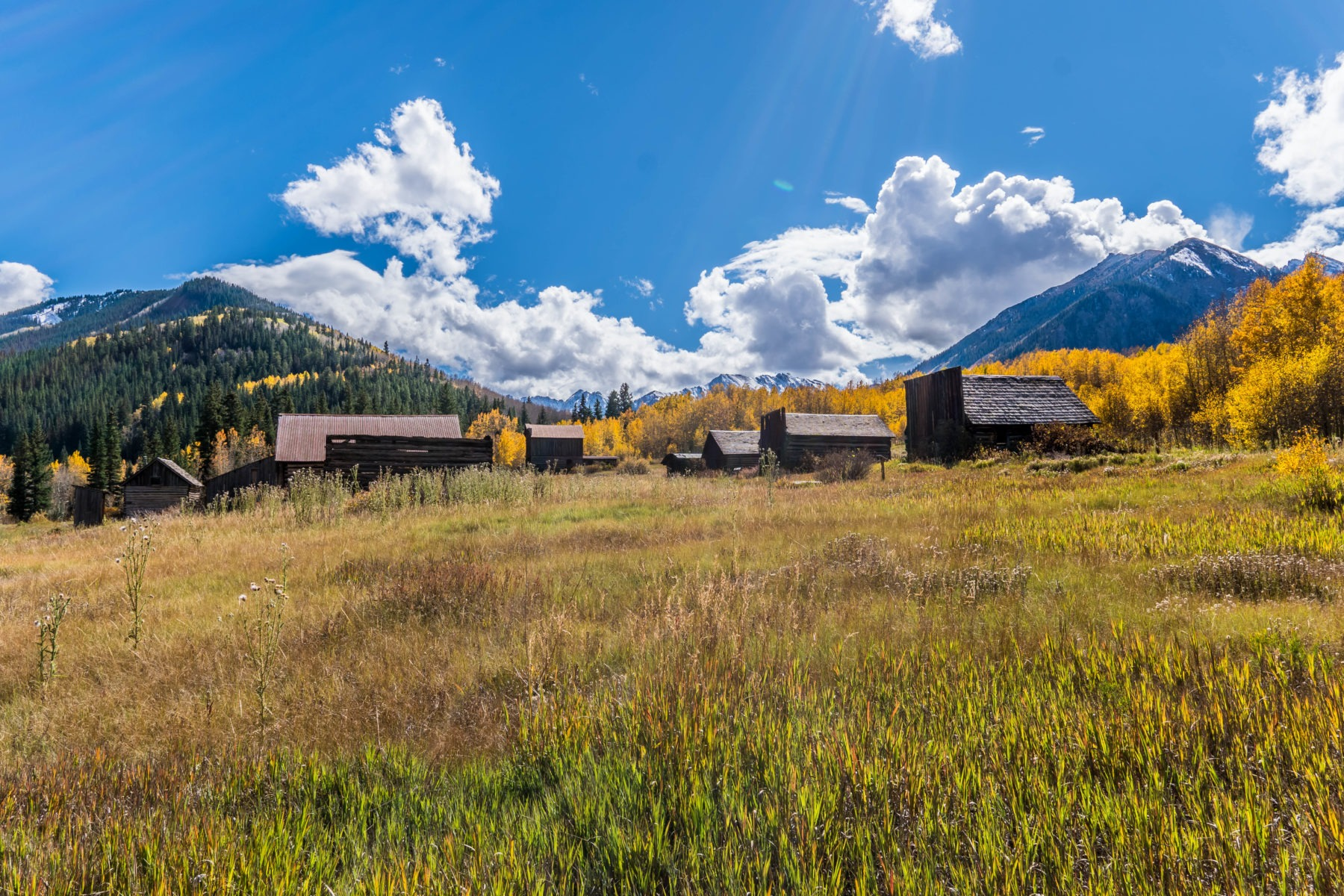 The abandoned mining town of Ashcroft, Colorado