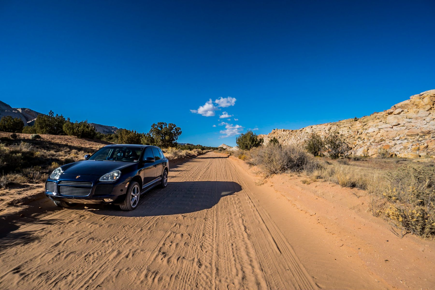 At Capitol Reef National Park, the rangers told me to drive the length of the park on a rough dirt road, and explore the Waterpocket Fold and surrounding landscape.