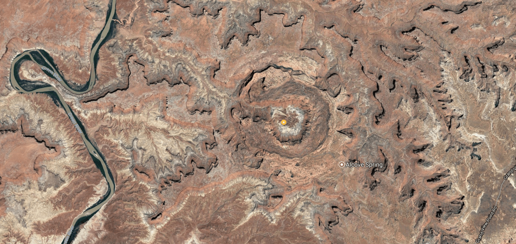 Upheaval Dome at Canyonlands National Park on Google Maps